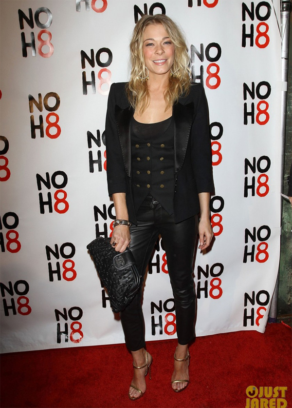 LeAnn Rimes celebrate NOH8 Day at The House Of Blues