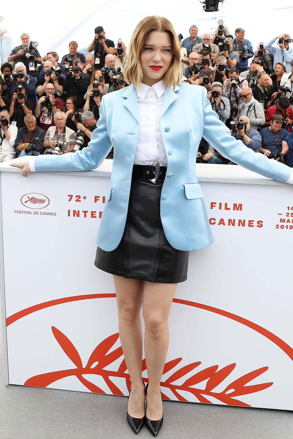 Lea Seydoux attends Roubaix, Une Lumiere (Oh Mercy!) Photocall