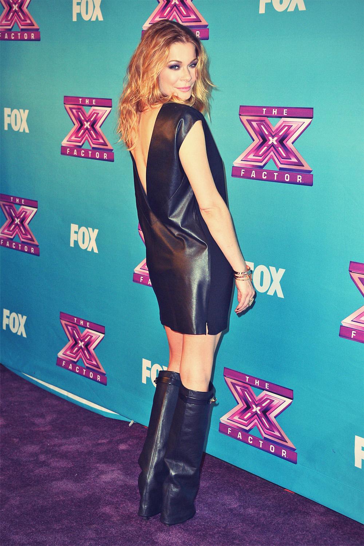 Leann Rimes arrives at Fox's The X Factor Season Finale Night