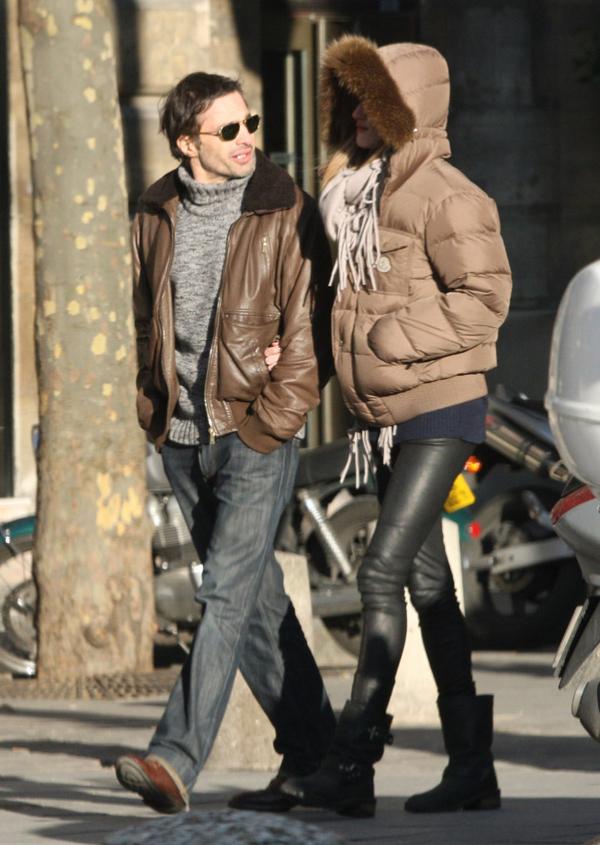 Rosie Huntington-Whiteley with Olivier Martinez in Paris