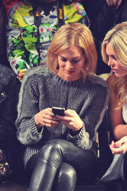 Leigh Lezark attends Fall 2013 Mercedes-Benz Fashion Week