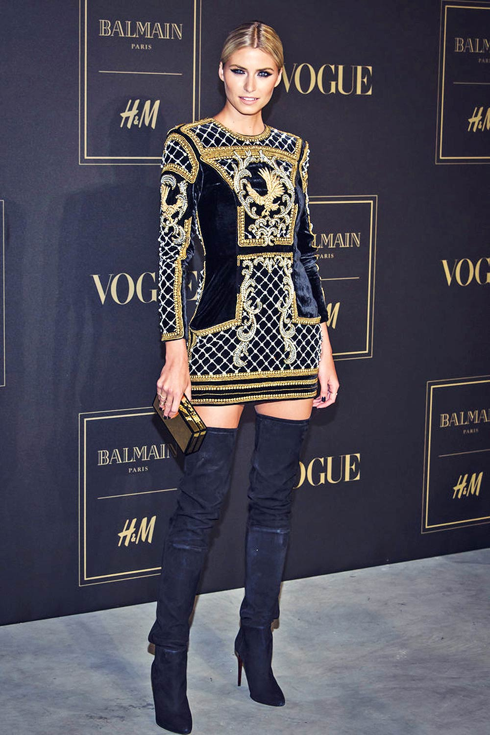 Lena Gercke Attends Balmain H Amp M Launch Party Leather