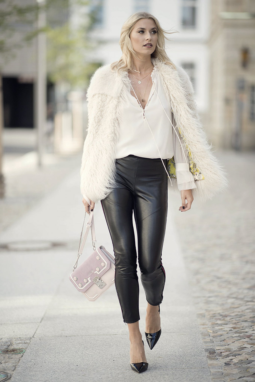 Lena Gercke on her way to Marc Cain Fashion Show