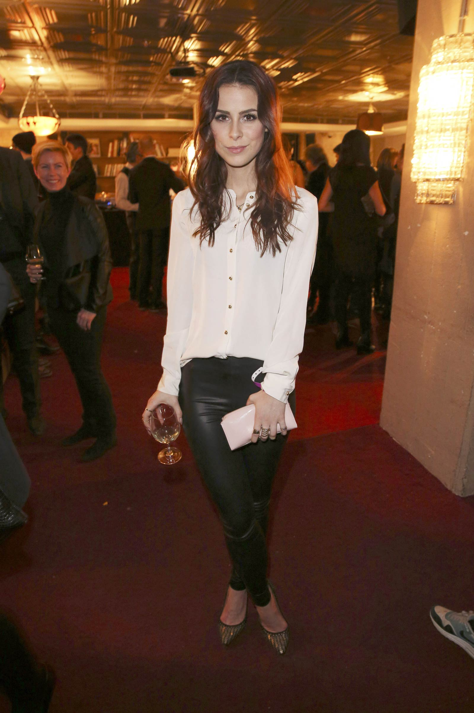 Lena Meyer Landrut attends Mercedes Benz Fashion Week Kate Bosworth