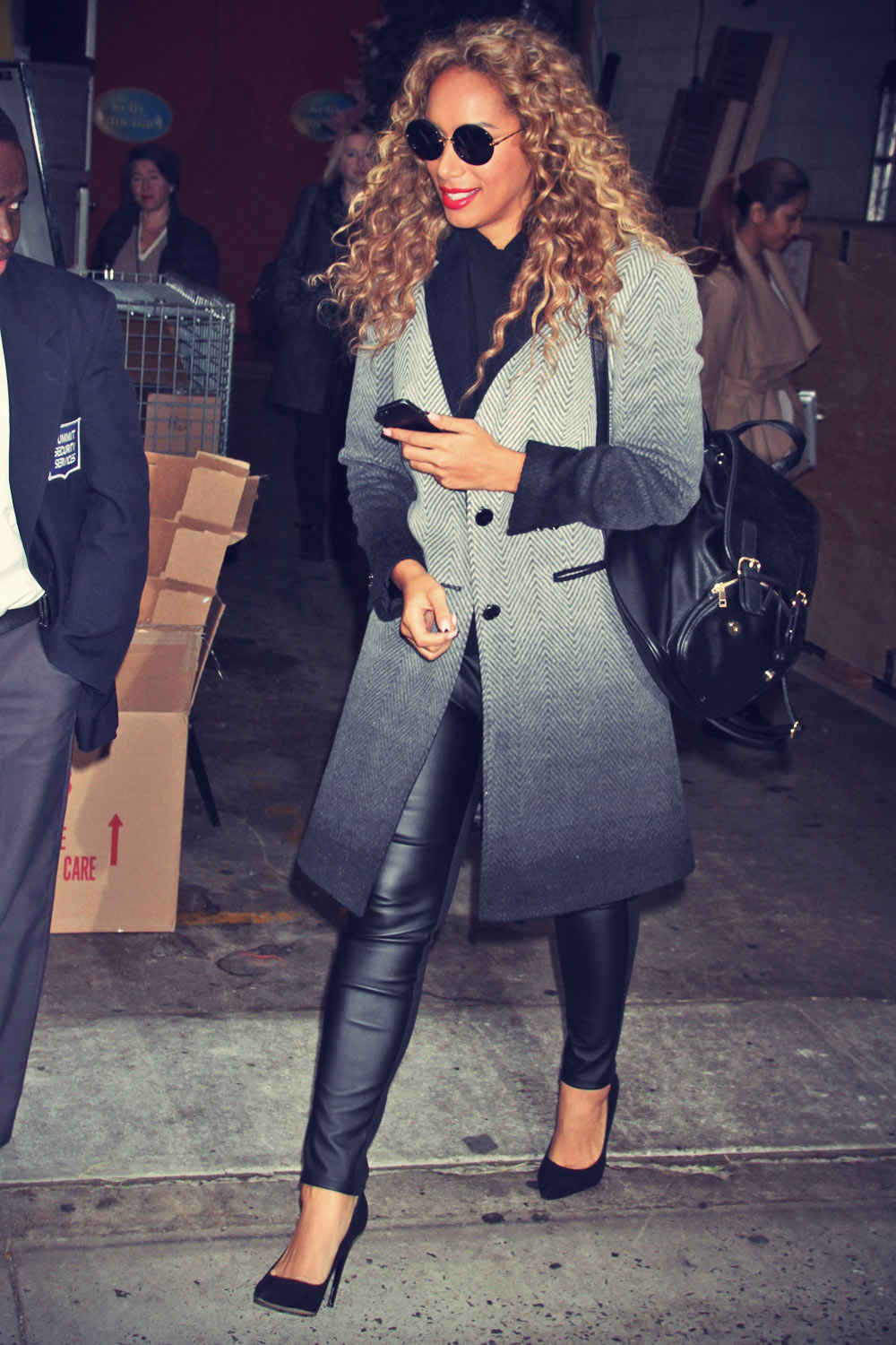 Leona Lewis out and about in NYC