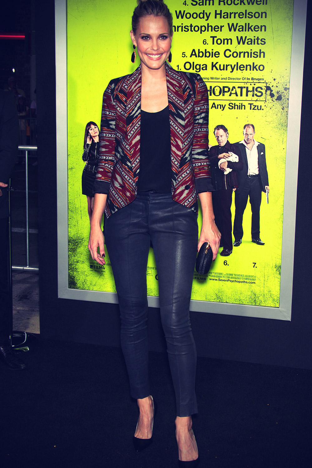 Leslie Bibb at Premiere Seven Psychopaths at Mann Bruin Theatre