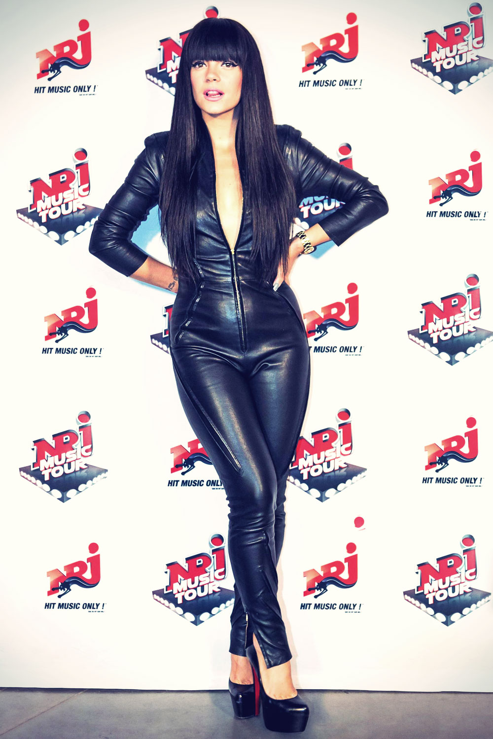 Lily Allen attends NRJ Music Tour 2014 event