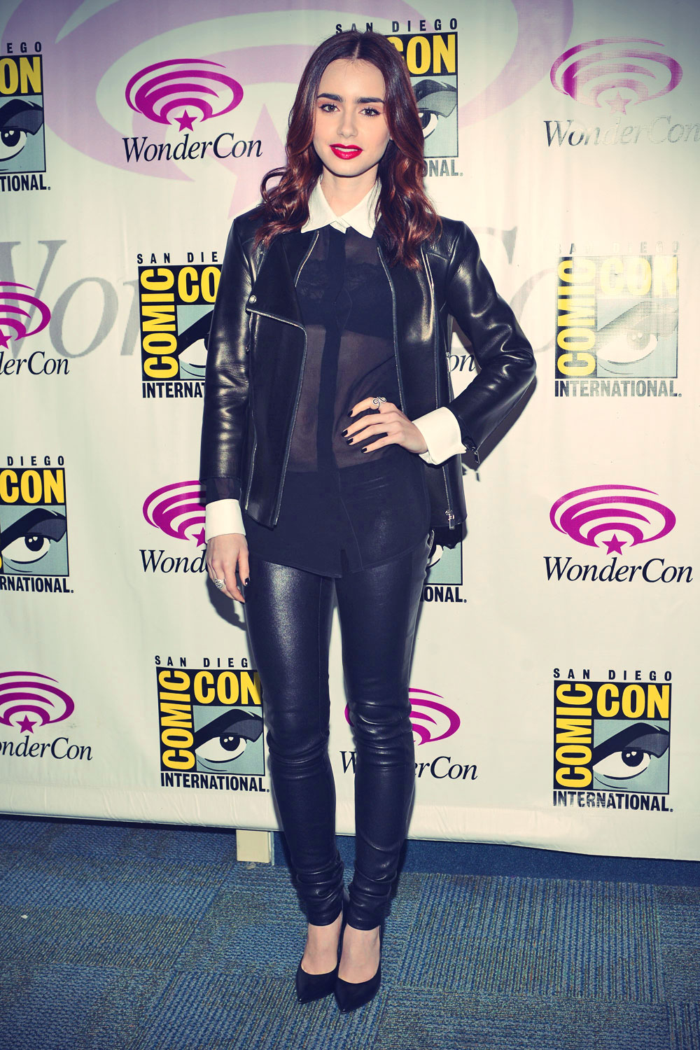 Lily Collins 2013 WonderCon appearance candids