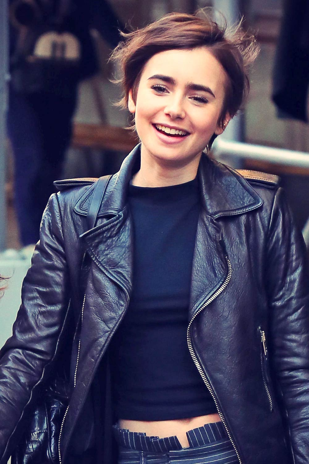 Lily Collins Out in New York City