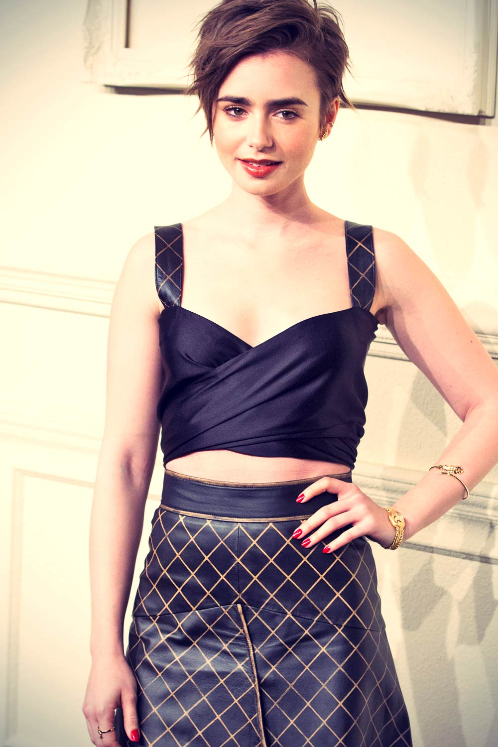 Lily Collins attends CHANEL Paris-Salzburg Metiers d'Art Collection
