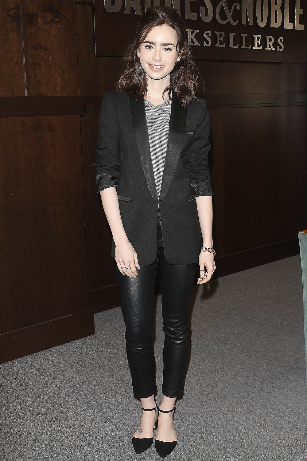 Lily Collins attends her book signing for 'Unfiltered: No Shame, No Regrets, Just Me'