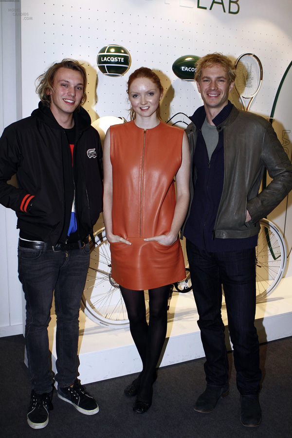 Lily Cole visits the Lacoste Lounge in London