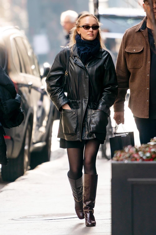 Lily Rose Depp shopping at Nespresso