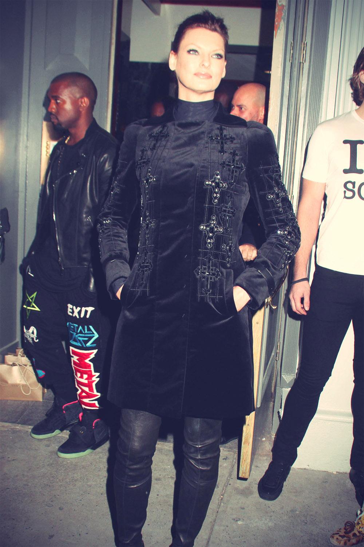 Linda Evangelista at Versace Soho Store Opening