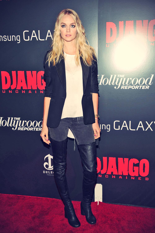 Lindsay Ellingson attends Django Unchained screening