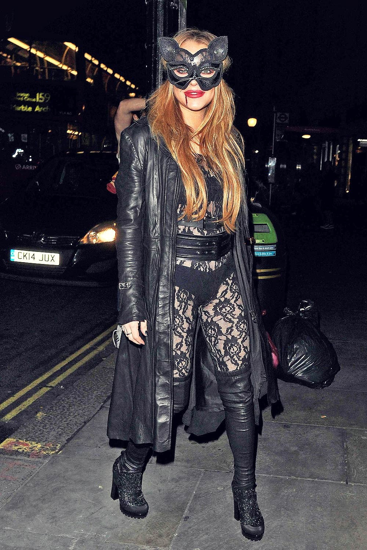Lindsay Lohan seen at The Cuckoo Club Halloween Party
