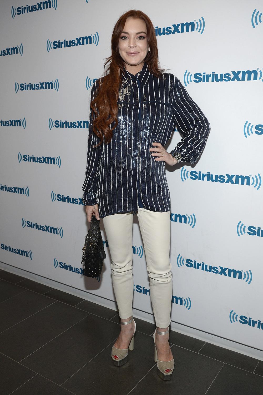 Lindsay Lohan at SiriusXM studios