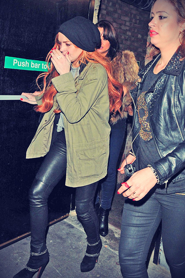 Lindsay Lohan leaves The Rose Club