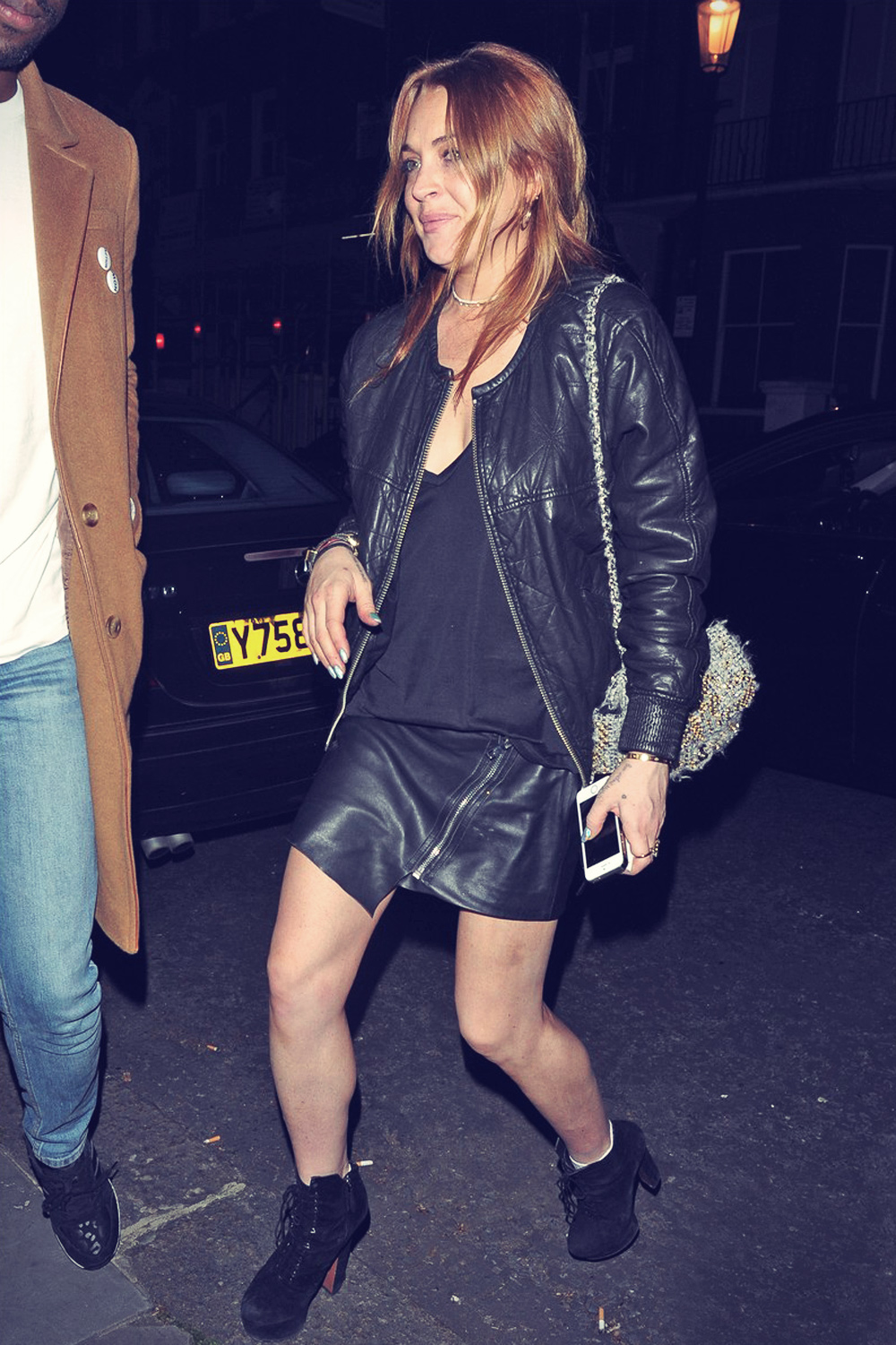 Lindsay Lohan leaves the Chiltern Firehouse