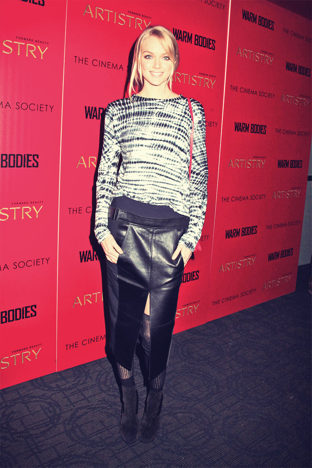 Lindsay Ellingson attends Warm Bodies Screening