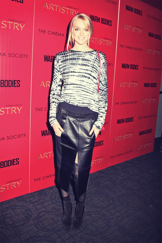 Lindsay Ellingson attends Warm Bodies Screening