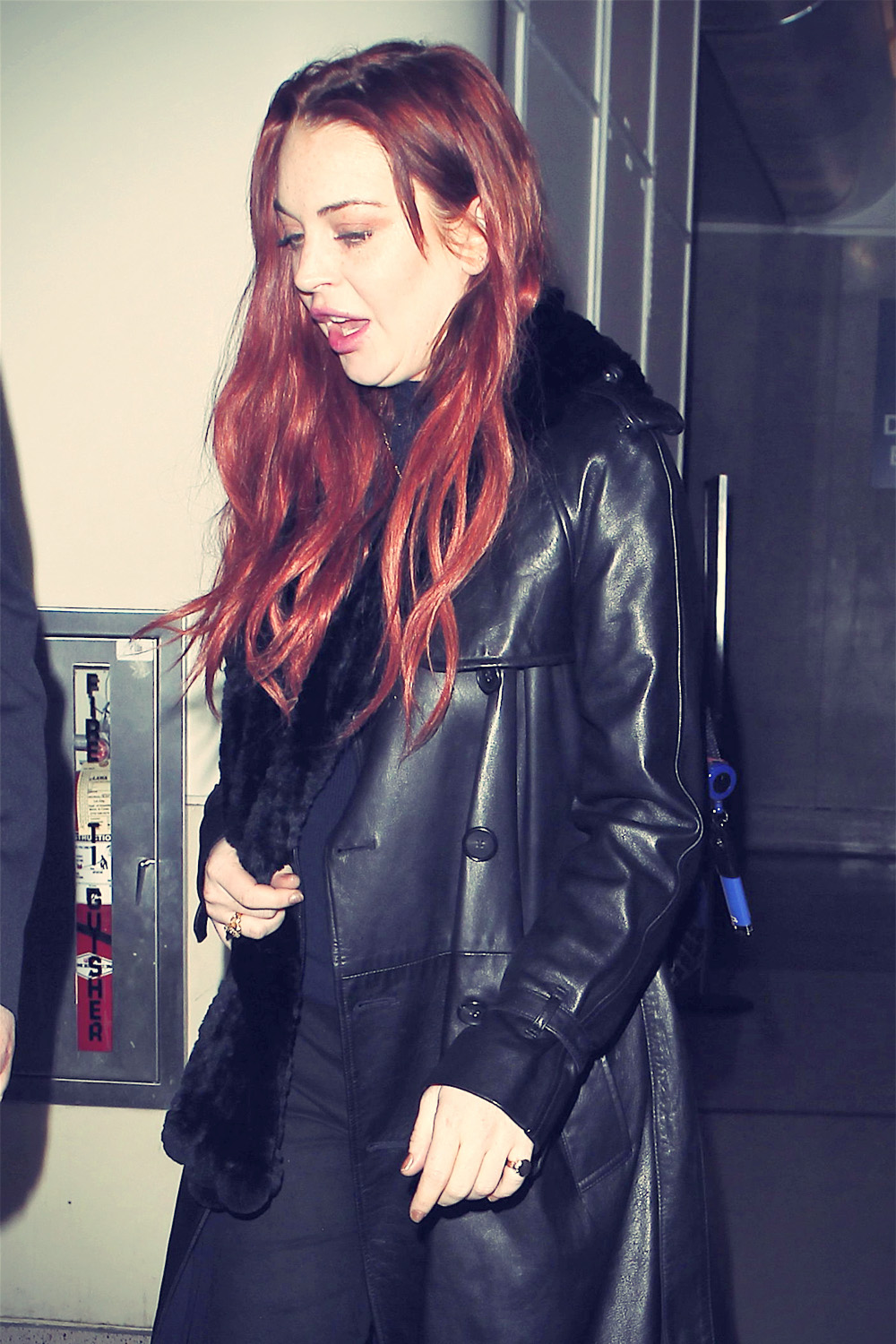 Lindsay Lohan arriving at the LAX