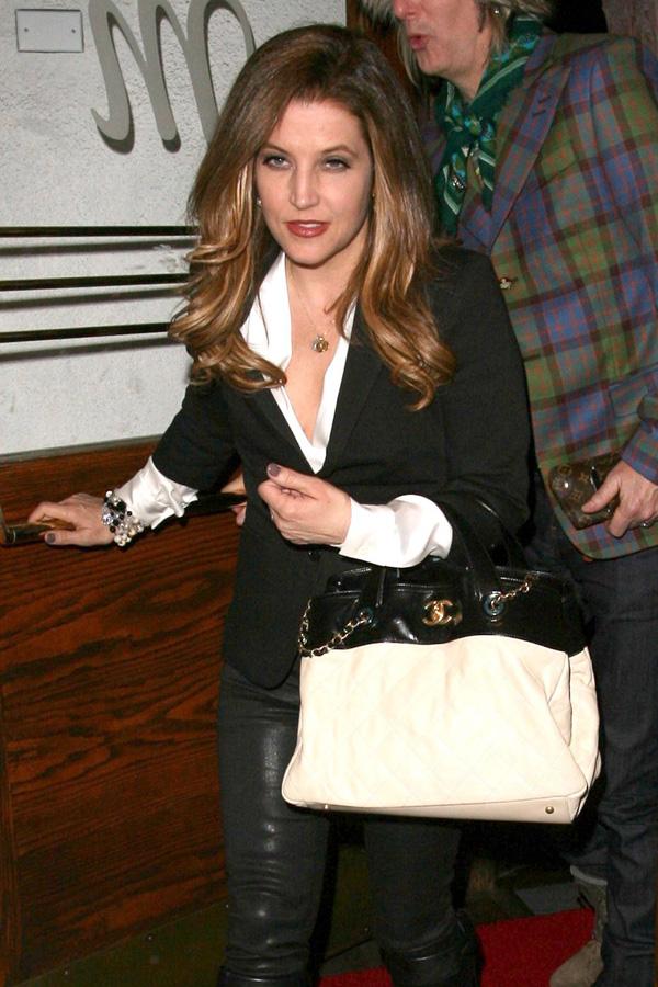 Lisa Marie Presley leaves Madeo Restaurant