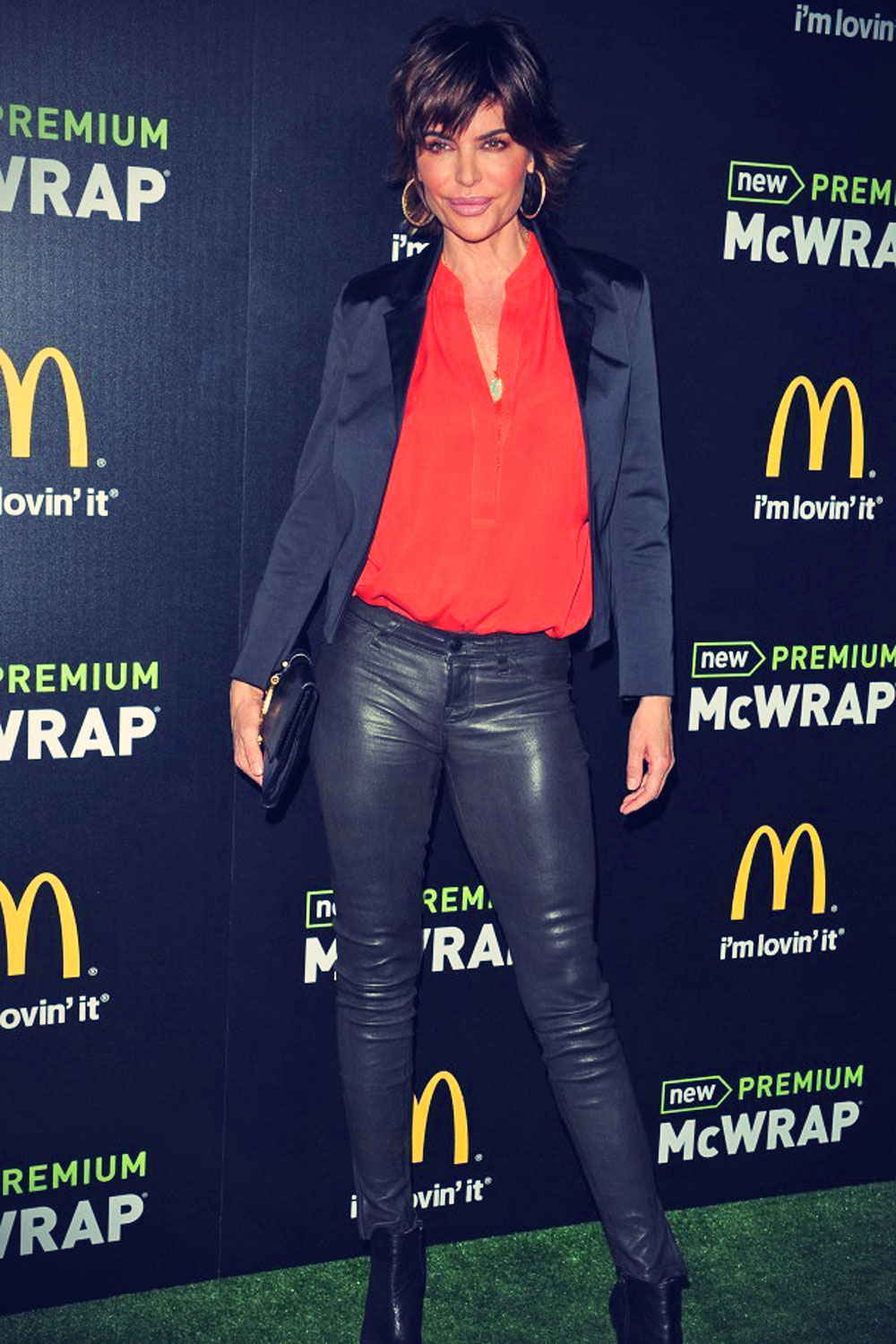 Lisa Rinna attends the launch of McDonald's Premium McWrap