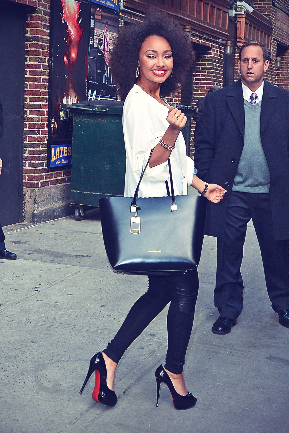 LittleMix outside the Late Show with David Letterman