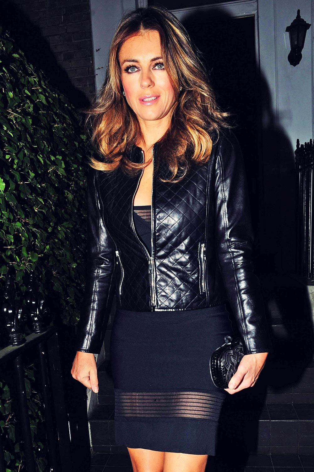 Liz Hurley spotted Night Out at Scott's Restaurant