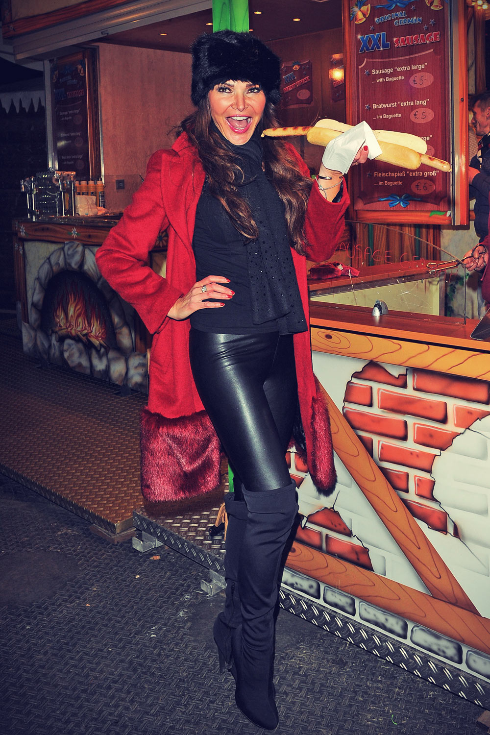 Lizzie Cundy at The Hyde Park Winter Wonderland VIP launch