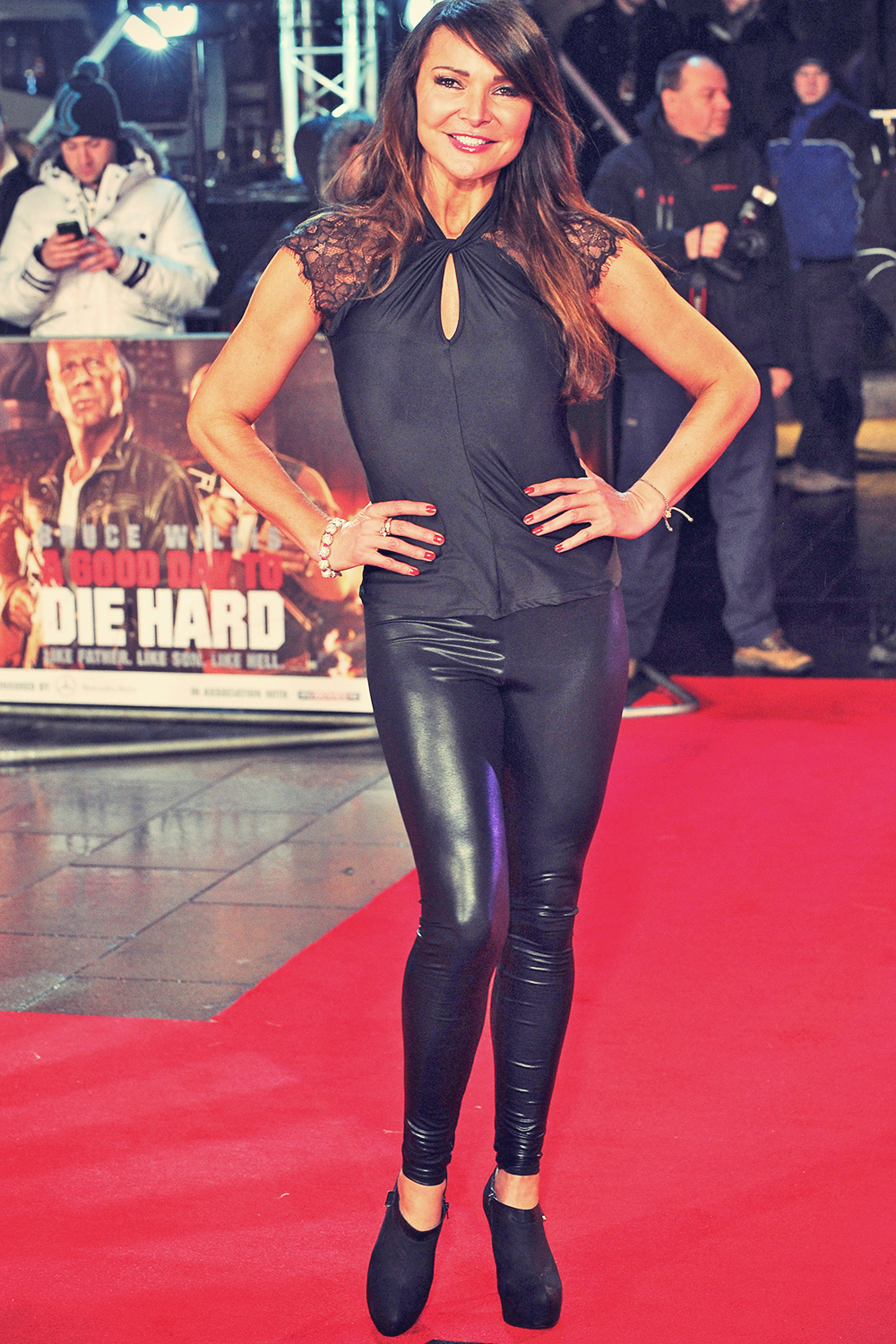 Lizzie Cundy attends A Good Day to Die Hard London premiere