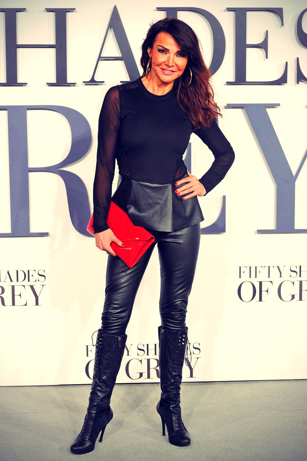 Lizzie Cundy Attends Fifty Shades Of Grey Premiere