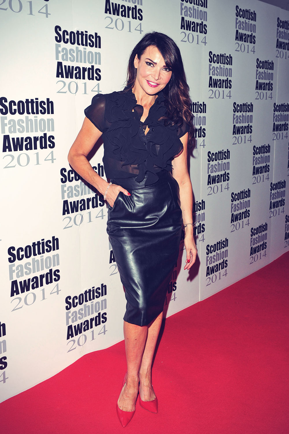 Lizzie Cundy attends The Scottish Fashion Awards