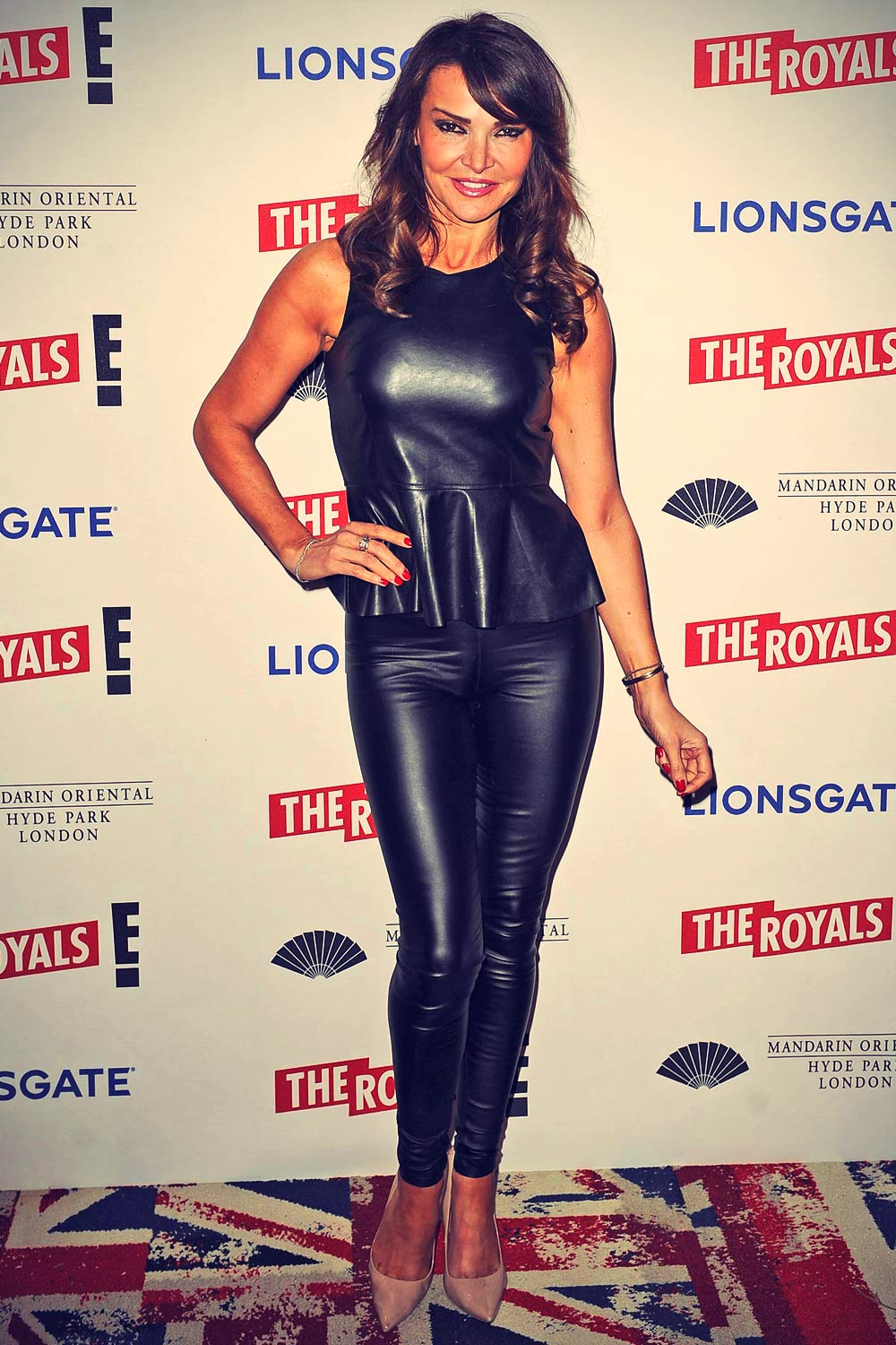 Lizzie Cundy attends The Royals E! UK Premiere