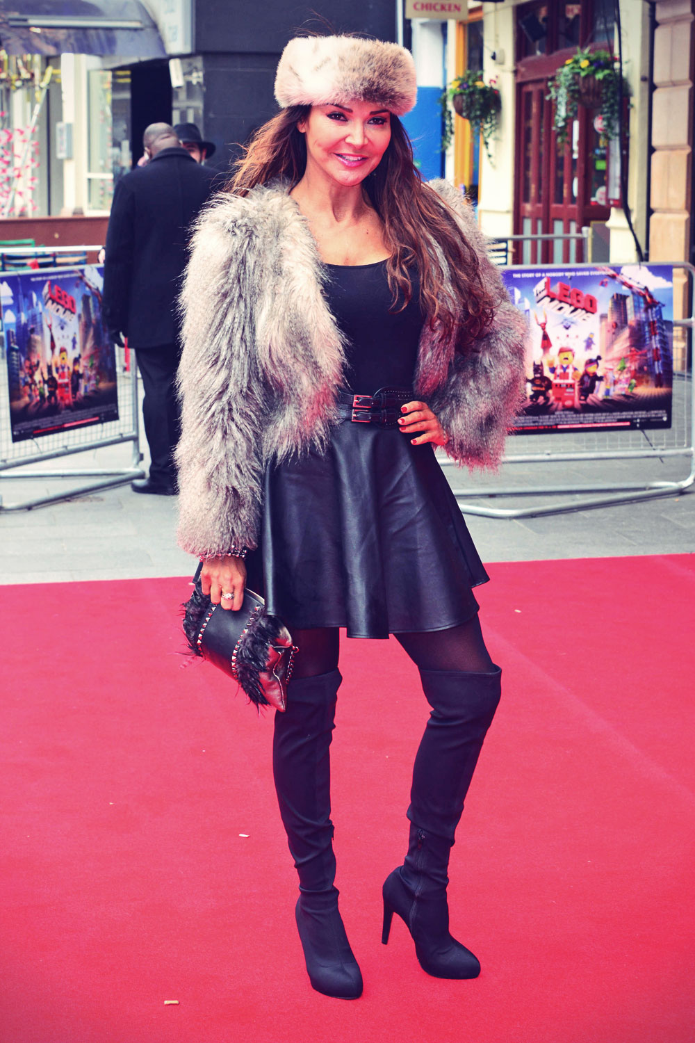 Lizzie Cundy attends VIP screening of The Lego Movie