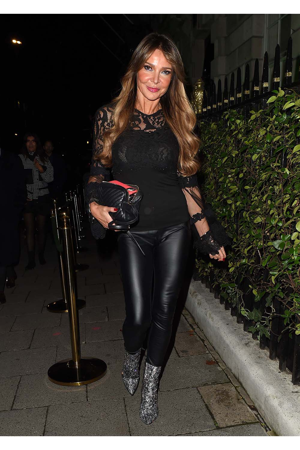 Lizzie Cundy seen at Annabel's Member's Club in Mayfair, London