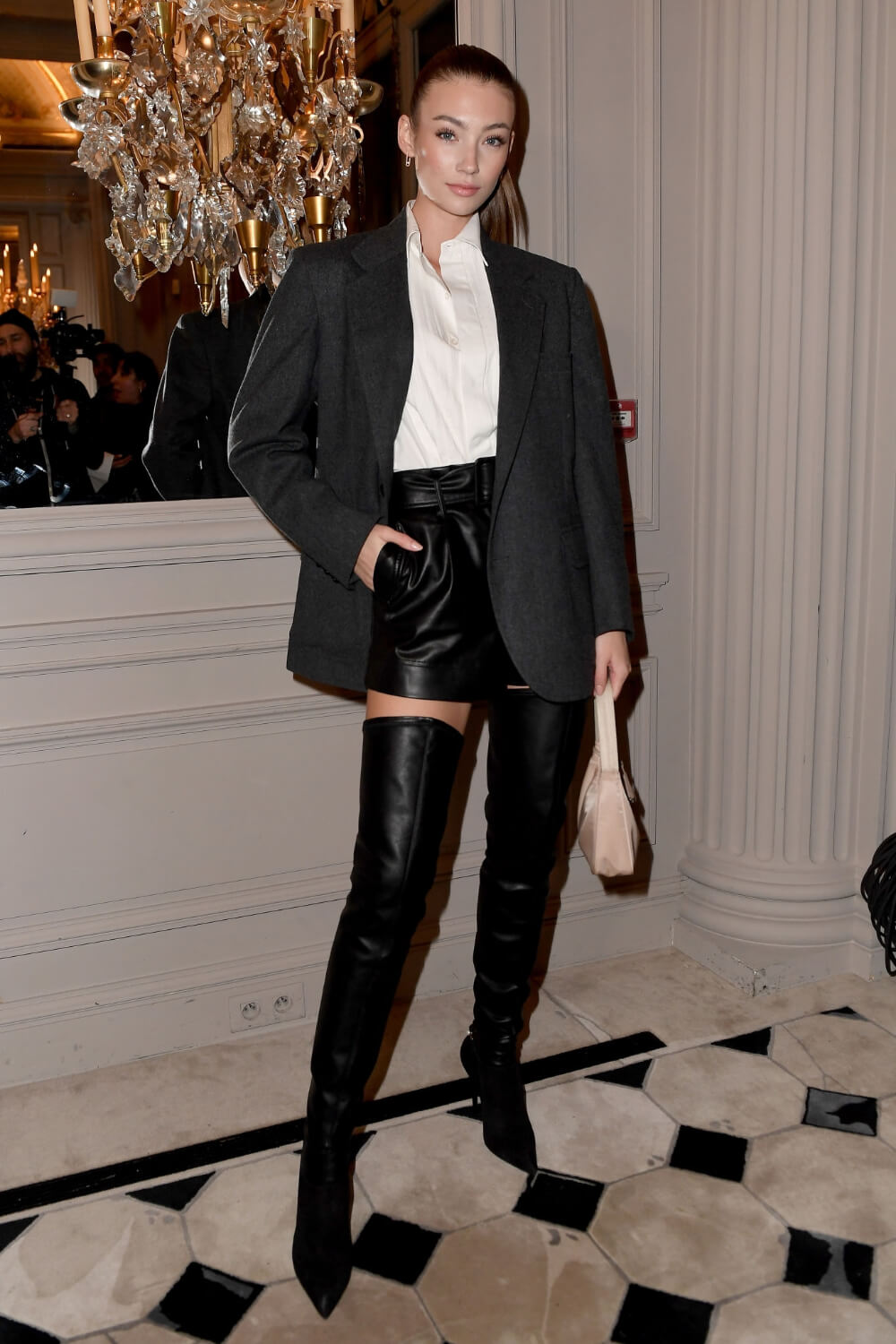 Lorena Rae attends the Monot show as part of the Paris Fashion Week
