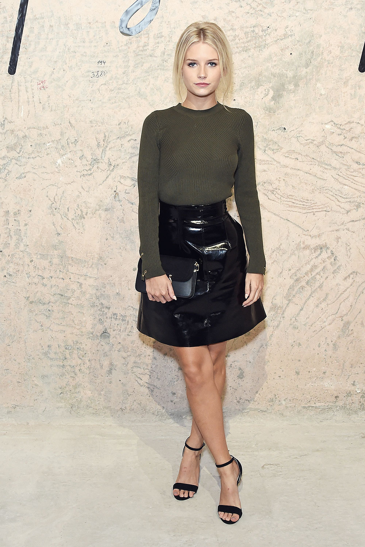 Lottie Moss Attends Topshop Show Leather Celebrities