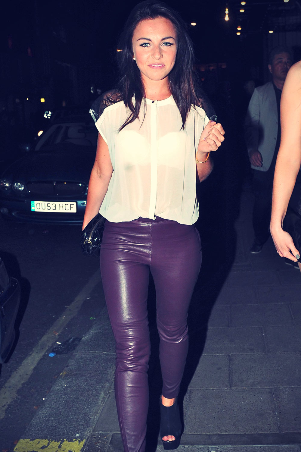 Louisa Lytton out and about for the night