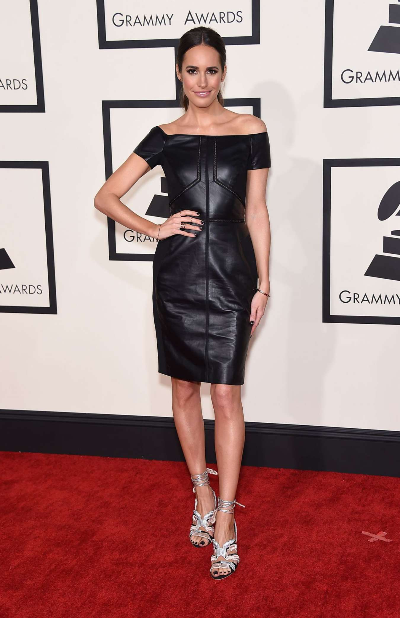 Louise Roe arrives at the 57th GRAMMY Awards