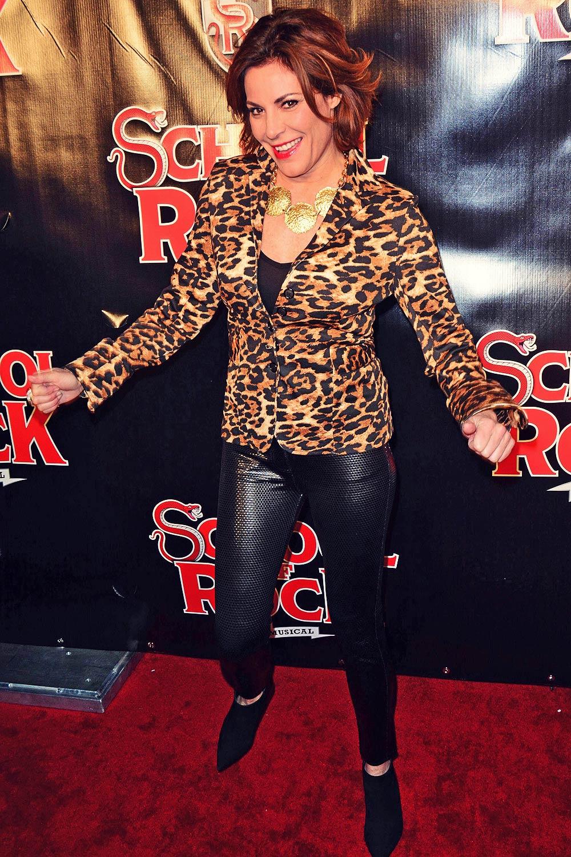 Luann de Lesseps attends School Of Rock Broadway Opening Night