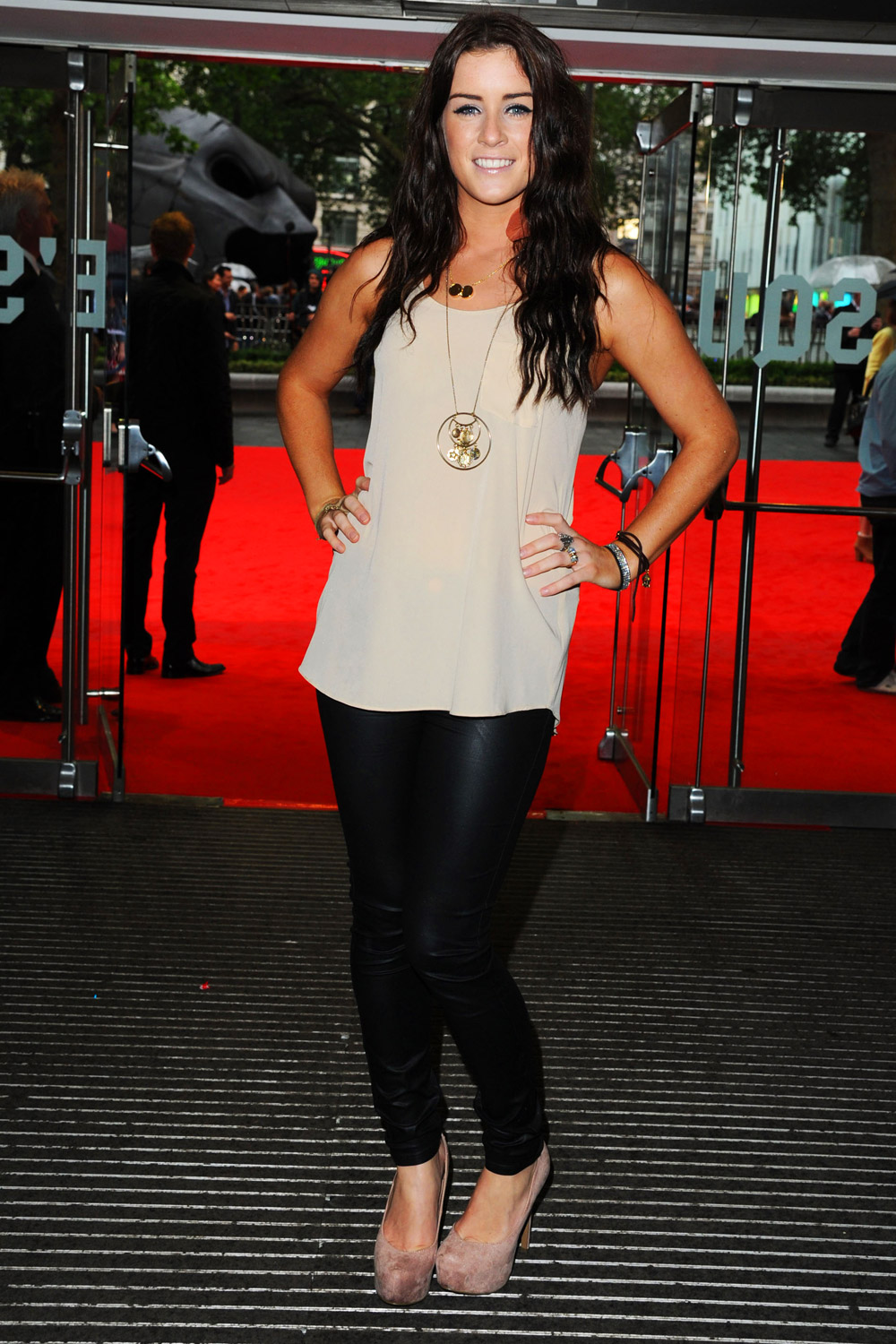 Lucie Jones at Dark Knight Rises Premiere