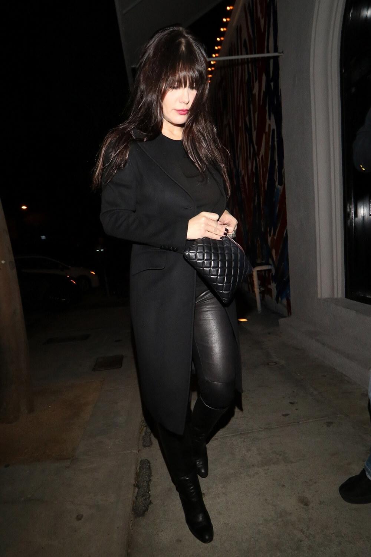 Lucila Sola arrives for dinner at Craigs restaurant