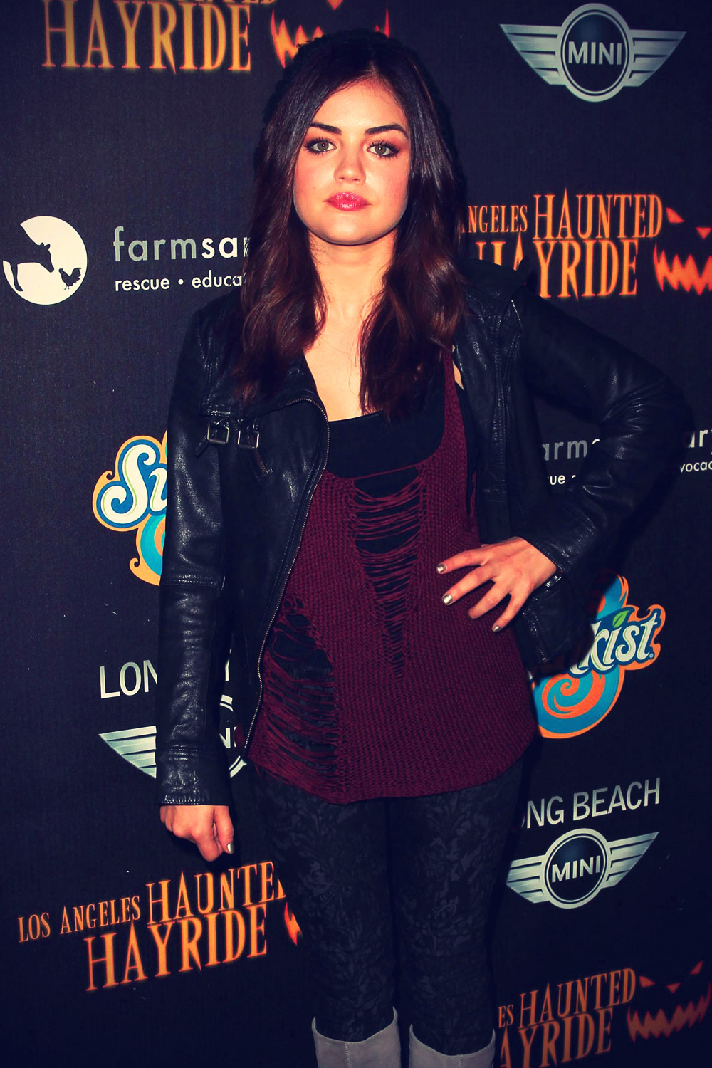 Lucy Hale 4th Annual Haunted Hayride