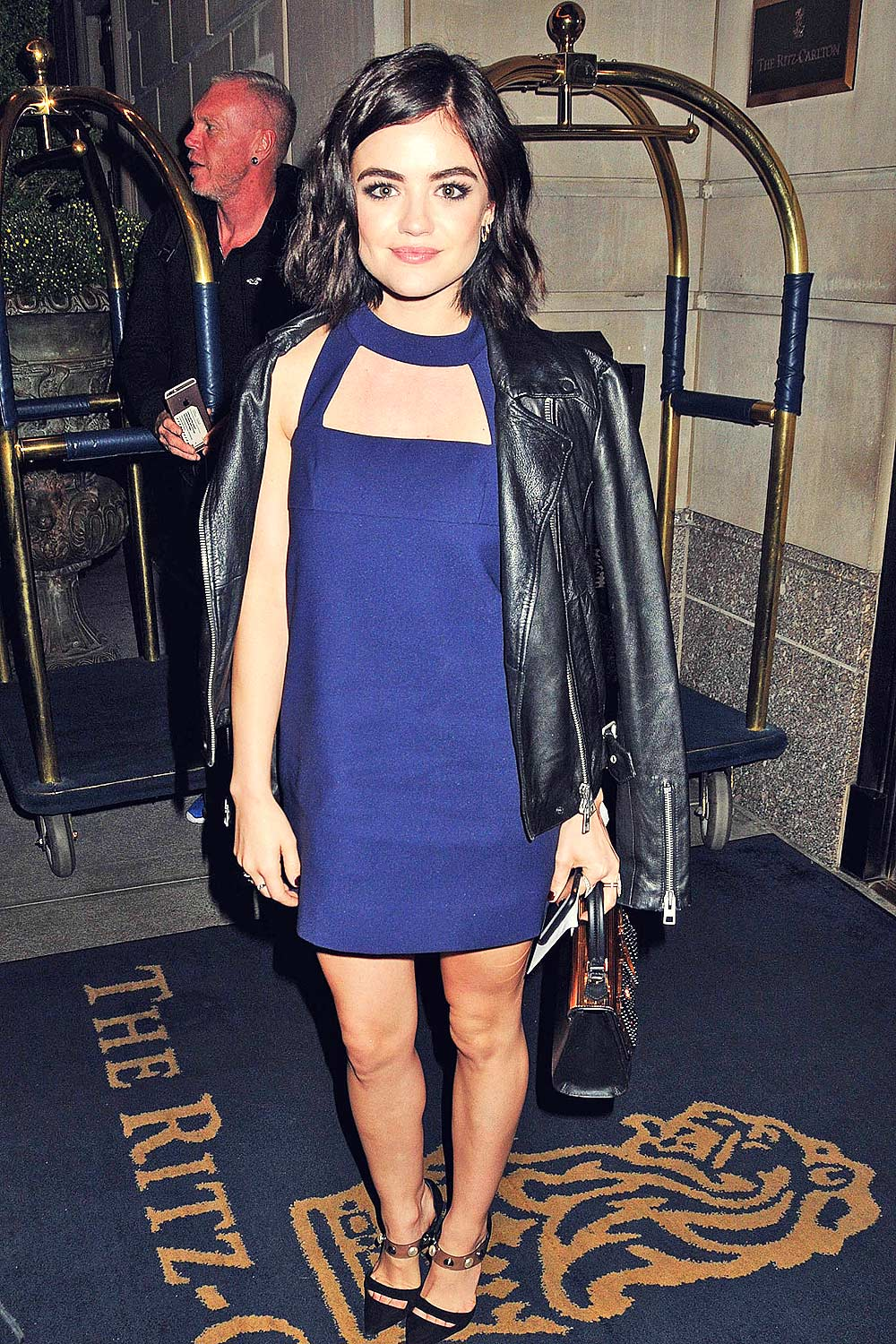 Lucy Hale at her Hotel in NYC