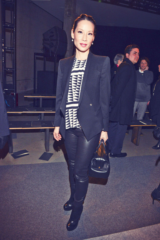 Lucy Liu attends Edun fashion show