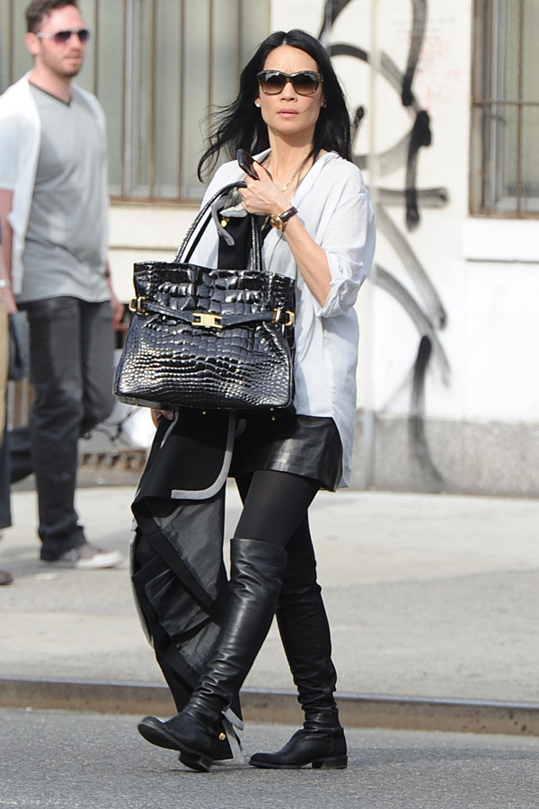 Lucy Liu out and about in NYC