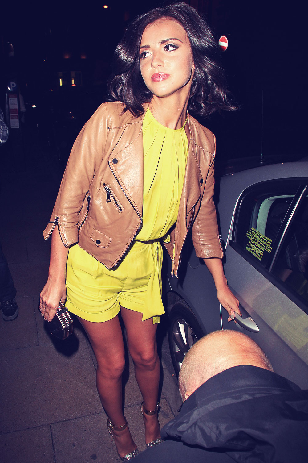 Lucy Mecklenburgh at Rosso Italian Restaurant