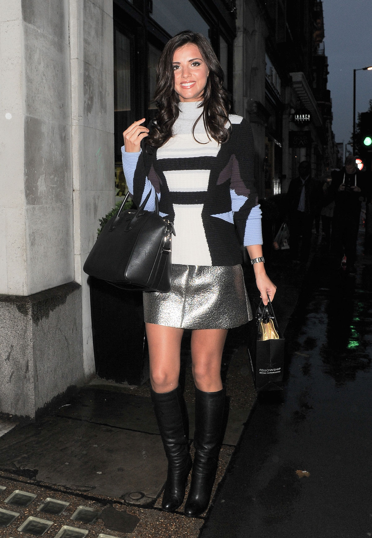 Lucy Mecklenburgh out and about in London